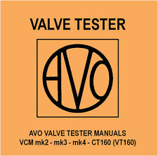 Avo Valve Tester Manual - DVD - VCM mk2 mk3 mk4 CT160 (VT) - Tube