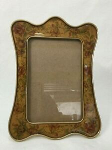 """The Bucklers Hand Crafted Floral Enamel Photo Frame, 4"""" X 6""""-Image Size"""