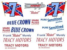 "#7 Frank ""Rebel"" Mundy Tracy Motor Hudson 1/18th Scale Decals"