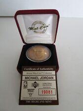 Upper Deck Highland Mint Michael Jordan Bulls Bronze Coin Medallion Collectible