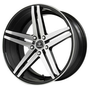 "Verde V39 Parallax 20x9 5x112 +32mm Black/Machined Wheel Rim 20"" Inch"