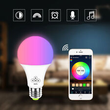 E27 WiFi RGBCW LED Bulb Lamp Light Bulb Indoor Home Smart IC APP Phone Control