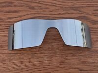 Silver Chrome Mirror Polarized Replacement Lenses For-Oakley Oil Rig Sunglasses