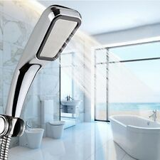 Bathroom Shower Head Hand Held Water Saving Square ABS 300 Holes Chrome Plated