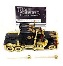 Oro y negro de Transformers Optimus Prime Figura De Juguete De Edición Limitada Completa