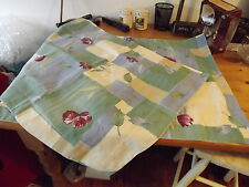 PAIR BED PILLOW SHAMS BLUE GREEN FLORAL 32X25.5 STANDARD SIZE