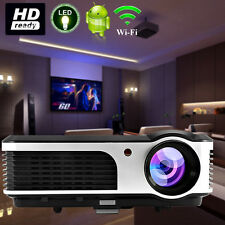 Smart Home Theater Android Projector HD Video Wireless Connection HDMI USB USA