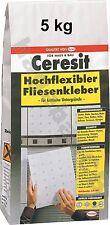 Ceresit Hochflexibler Fliesenkleber 5kg Flexmörtel flexibler Mörtel Fliesen