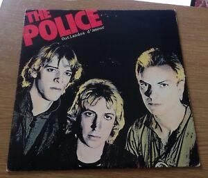 1978 THE POLICE LP OUTLANDOS D'AMOUR ALBUM P1/P2 SP 4753 N/MINT