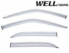 WellVisors Side Window Visors W/ Chrome Trim For 92-99 MB W140 S-Class SWB Sedan