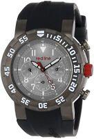 NEW Red Line 50027-GUN-014W-BB Men's Day/Date/24Hr Black Silicone Gunmetal Watch
