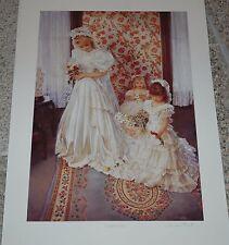 Sandra Kuck A JOYOUS DAY fine art print - 24x16 ARTIST SIGNED, Wedding Day Bride
