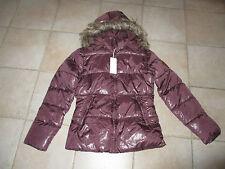 Doudoune veste bel air couleur prune neuve avec étiquettes taille S