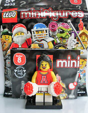 Lego® - Minifigures Series 8 - Red Cheerleader Minifigure