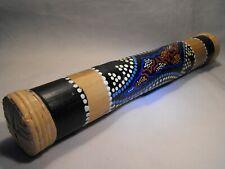 More details for hand painted rain stick musical instrument bamboo fair trade 40 cm rainstick