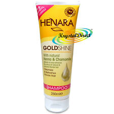 Henara GoldShine Shampoo For Blonde Hair 250ml Henna & Chamomile Extracts