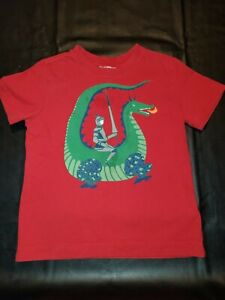 Hanna Andersson Boys Dinosaur Knight Shirt Sleeve Shirt 100 4 4T