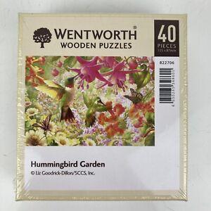 Wentworth 40 Piece Wooden Mini Jigsaw Puzzle 'Hummingbird Garden' *NEW & SEALED*