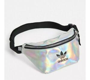 adidas Unisex Metallic Waist Pack Sports Funny Pack Waistbag Metallic Gray/Black