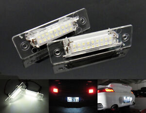 Pair No Error License Plate LED Light For Porsche 911 Carrera GT GT2 GT3 Boxster