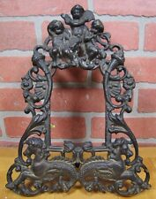 Old Brass CHERUBS HIPPOCAMPUS SEA MONSTERS Decorative Arts Frame Picture Mirror