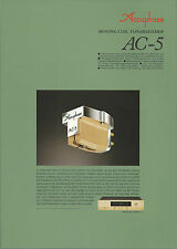 Accuphase ac-5 catalogue prospectus catalogue Datasheet brochure