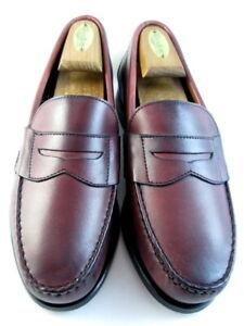 "Allen Edmonds ""CAVANAUGH"" Men's Leather Penny Loafers 7.5 D  Oxblood    (494)"