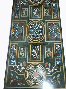 """60"""" x 36"""" green Marble center / dining Table Top Inlay home dining Decor"""
