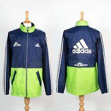 Adidas maratón de Berlín Canguro chaqueta con capucha capa de lluvia años 90 noventa Retro XL