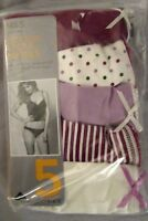 NEW 5 PACK COTTON LYCRA BIKINIS KNICKERS PANTIES MARKS & SPENCER LINGERIE MAGENT