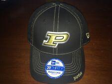 Purdue Boilermakers Flex Fit Medium/Large Hat (Baseball Cap) Black