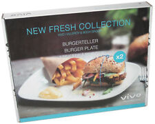 vivo New Fresh Collection Burgerteller-Set, Villeroy & Boch Burger Teller/ plate