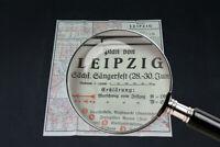 alte Karte über Leipzig Sachsen old vintage Stadtkarte Sammler 1935