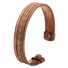 Mens Bio Magnet Pure Copper Bangle-Bracelet Arthritis Pain Relief High Strength