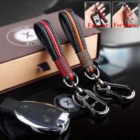 Leather Metal Car Keychain Keyring Purse Bag Key Ring for Audi BMW Lexus Toyota