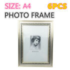 6 x A4 Size Gold EPS Document Certificate Photo Picture Glass Frame Bulk