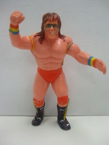 Vintage 1989 WWF LJN Wrestling Figure ULTIMATE WARRIOR Black Card Series NICE