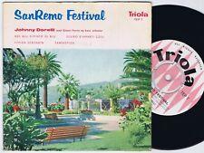 JOHNNY DORELLI SanRemo Festival Danish EP 45PS 1958 Eurovision Volare