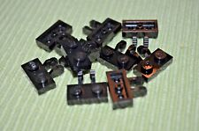 8 ~ Black 1x2 Plate with 2 Click Tabs on Side~ New Lego Parts