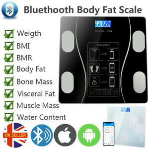 Bathroom Weight Scales Bluetooth - Smart Body Fat BMI Bluetooth Weighing Scales