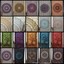 Twin Size Tapestry Cotton Fabulous Decorative Bed Cover Mandala & Tree Of Life