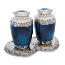 Mediterranean Blue Companion Urn Set