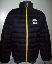 PITTSBURGH STEELERS Puffer Pack It Jacket with Tote Bag  MEDIUM BLACK