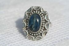 Amazing Deep Blue Kyanite Sterling Silver Decorative Dress/Cocktail Ring