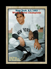 Yogi Berra, '53 New York Yankees Team Card world champions with team stats
