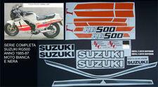 SUZUKI RG 500 GAMMA '85 '87 BIANCA/NERA ADESIVI