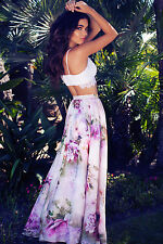 Womens Floral Gypsy Boho Long Maxi Full Skirt Party Beach Dress Evening Dresses