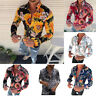 Casual Printed Fit T-Shirt Men's New Blouse Tops Flower Long Fashion Sleeve Slim
