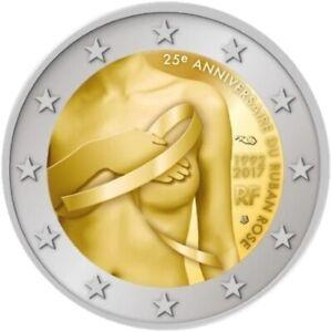 1x 2euro commémo. France 2017 (recherche sur le cancer du sein) (neuve)