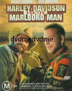 Harley Davidson And The Marlboro Man DVD Mickey Rourke Don Johnson Brand New Aus